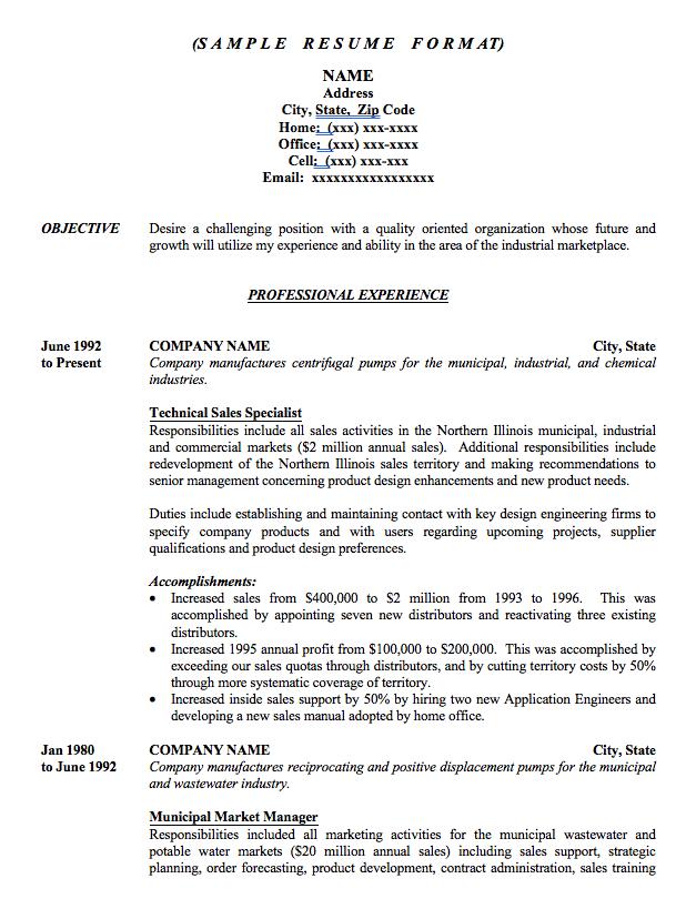 download sample resume word doc - Sample Resume Word